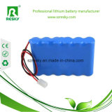 18650 pack batterie rechargeable d'ion de lithium de 6600mAh 7.4V pour l'éclairage LED