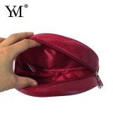 Sacchetto cosmetico rotondo di cuoio reso personale del PVC di modo di buona qualità