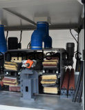ブラシSandeのディスクローラー4のローラー、ブラシの紙やすりで磨く機械
