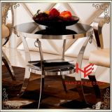 Tabella moderna del lato della Tabella di tè della Tabella di sezione comandi della mobilia dell'hotel della mobilia della casa della mobilia dell'acciaio inossidabile della Tabella dell'angolo del tavolino da salotto della Tabella della mobilia (RS161304)