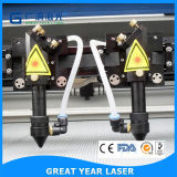 вырезывание лазера двойных головок 1000*800mm высокоскоростное и гравировальный станок 1080d