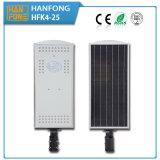 Luz de calle solar para la lámpara de 25W LED con la batería de Li