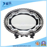 Vaisselle imprimable 10inch Oval Sublimation Matal Plate