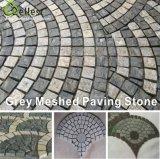 Pietra per lastricati del ciottolo grigio Finished spaccato del granito G603/pietra del cubo per la via e la strada privata