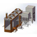 不変色の変更のMulticycloneの粉の回復システム粉のコーティングブース
