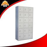 18 Tür-Stahlgarderoben-Metallschuh-Schließfächer