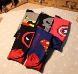Kalb-der Männer des Fabrik-Amerika-Held-Serien-Supermann-Kapitän-Amerika Socken