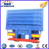 3 de Aanhangwagen van de Vrachtwagen van de Zijgevel/van de Zijwand/van de Omheining van de as voor Vervoer van de Lading stortgoed