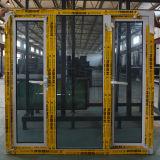 Ventana de aluminio del marco del perfil del color de la alta calidad de la rotura termal revestida blanca del polvo con el bloqueo multi K03040