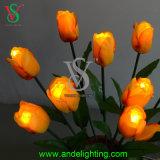 Luz de la Navidad colorida de la flor artificial del LED