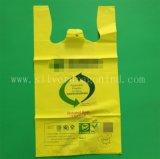 Sac biodégradable de qualité, sac Bio-Basé et respectueux de l'environnement remplaçable de client