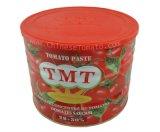 Goma de tomate conservada G de la calidad 2200 de Gino con estaño abierto normal
