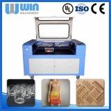 Автомат для резки тканья лазера CNC головки Lm1610d двойной