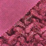 tons 100%Polyester dois que fazem malha o veludo (SH002)