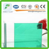 6.38mm 녹색 착색된 PVB 박판으로 만들어진 유리 단단하게 한