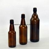 bernsteinfarbige Oberseite-Glasflaschen des Schwingen-500ml für Bier (NA-027)