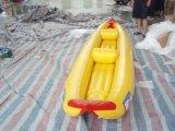 1.0mm PVC/TPU Qualitäts-aufblasbares einzelnes Kanu-Doppelt-Kanu aufblasbares Belüftung-Kanu für Verkauf