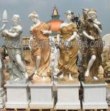 石造りの大理石の彫刻庭の装飾(SY-X1760)のための4季節の彫像