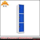 Zelle 3 abreißen drei Tür-Stahlmöbel-Metallkleidung-Schrank-Schließfächer