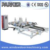 Máquina de soldadura da porta do indicador do PVC e máquina da limpeza/linha de processamento