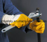 Перчатки Терри связанные щеткой работая с половинным нитрилом покрытия нитрила (NB1510)
