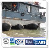 Saco hinchable de goma marina para la nave pesada que lanza y que amarra