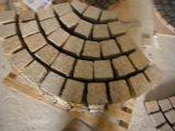 Камень естественного гранита вымощая, кубический каменный Paver