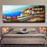 Peinture à l'huile méditerranéenne de toile d'illustration de mur de fleur de dessin-modèle européen de type