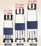 De nieuwe Fles van het Glas van het Ontwerp met Filter