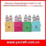 イースター装飾(ZY14C861-1-2)のかわいいウサギのギフト袋のバニー袋