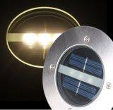 Luz ahuecada redonda solar ligera blanca del jardín del camino del muelle de la cubierta del LED