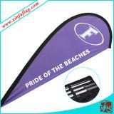 A pena feita sob encomenda relativa à promoção embandeira bandeiras de praia do vôo