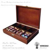 Hongdaoのチョコレート・キャンディの木箱の_Eのためのカスタム贅沢な木のギフト用の箱