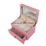 Розовая штейновая коробка нот девушки танцы Finsh деревянная
