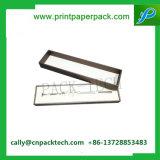 Rectángulo de papel de empaquetado del arte del rectángulo de cartón de la joyería de encargo de la caja