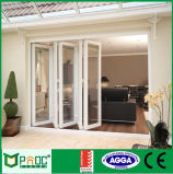 Porte de pliage en verre en aluminium de norme européenne