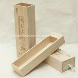 Caixa de presente de madeira barata do projeto feito sob encomenda da gaveta do logotipo