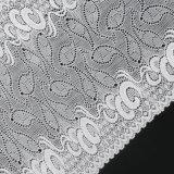 Weißes Mond-Muster-Nylonspitze-Gewebe gut für Sari-Gewebe