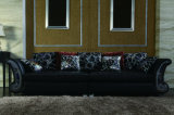 Sofa en cuir noir élégant 3+2+1+1 de meubles à la maison de luxe
