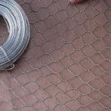 Malha de arame hexagonal revestida de PVC de alta qualidade.