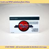 Cartão pré-imprimido do PVC com tira magnética ou microplaqueta