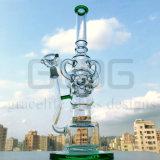 Gldg Vier de Waterpijp van het Glas van Perc van de Honingraat van Klien van de Recycleermachine