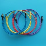 Het hoge Lood van het Flard Ethernet van Categorie van Prestaties 6A (10G) Blauwe 1m