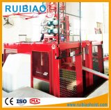Élévateur de passager de cage de Gjj Sc150/150td de prix usine double