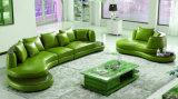 Sofá moderno de los muebles de la sala de estar con el sofá de cuero verdadero (UL-NS261)