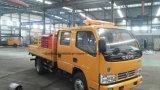 6つの車輪の二重タクシーの空気のプラットホームはオーバーヘッド働くトラックを切る
