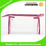 Sacchetto cosmetico del PVC della radura molle su ordinazione con la chiusura lampo per l'estetica impaccante ed il trucco