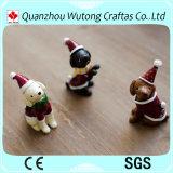 Cão do Natal da resina animal feita sob encomenda Handmade mini para a decoração do Natal