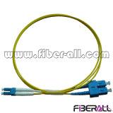 Duplex de fibra óptica da manutenção programada do cabo de correção de programa de SC/PC-LC/PC