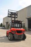 Capacidad diesel 6000kgs de la carretilla elevadora del IC